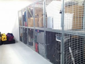 Two Tier Lockers Shown above. Ideal for small storage spaces. Maximzes the room. Also stock in Full size - Walk in with 1 full height door. Tenant Storage Cages in Asbury Park Generate good revenue and pay for themselves in less than 8 Months. Free on site layouts. Sales@LockersUSA.com