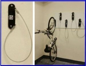 Wall Mount Bike Brackets in Orlando. #42488 space saving, Easy to use. Ideal for Condo's Apartments, Hotels, Parking Garages. Anywhere secure space saving is needed. Free bike room layouts. Sales@BikeRoomSolutions.com