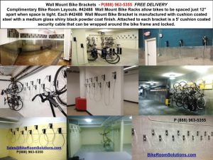 Wall Mount Bike Racks Free - Generate Revenue - NYC