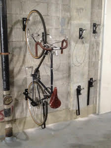 Locking Wall Mount Bike Rack NYC