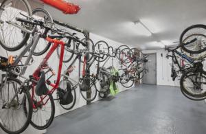 Wall Mount Locking Vertical Bike Racks NJ